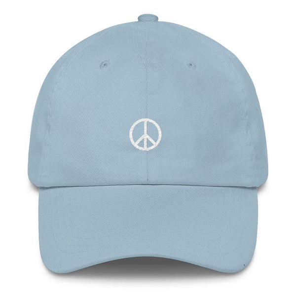 Peace Sign - Classic Cap - white-Light Blue-Boundless Creations