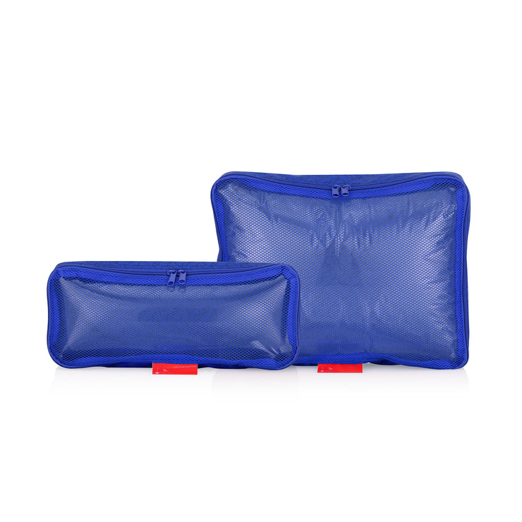 Travel Organizer, Bag in Bag, Pouches, 2er Set, blau