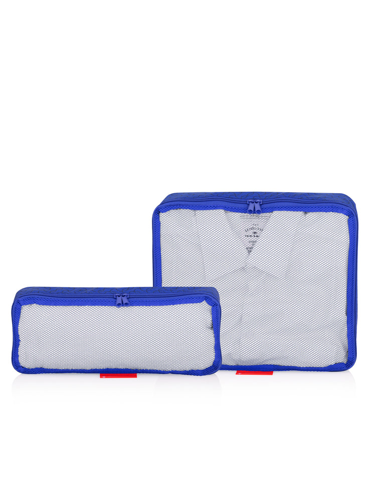 Travel Organizer, Bag in Bag, Pouches, 2er Set, blau, gefüllt