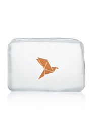 Clear Cosmetic Bag, gelb