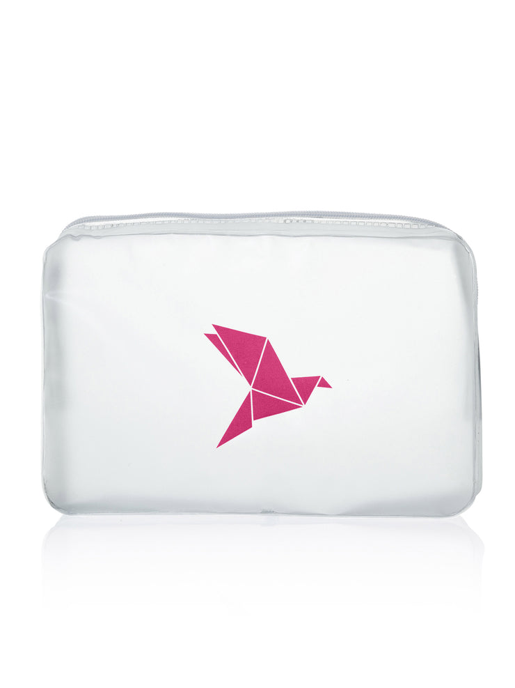 Clear Cosmetic Bag, rot