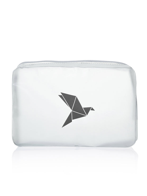Clear Cosmetic Bag, schwarz