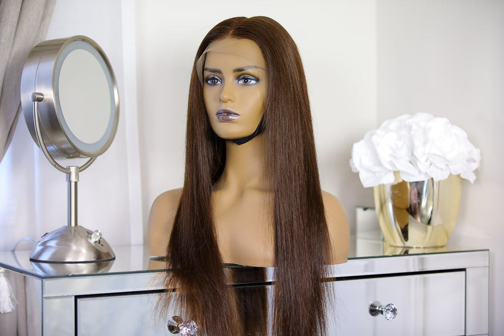 Perruque Coffee (VIRGIN HAIR) - Maggy Kloset