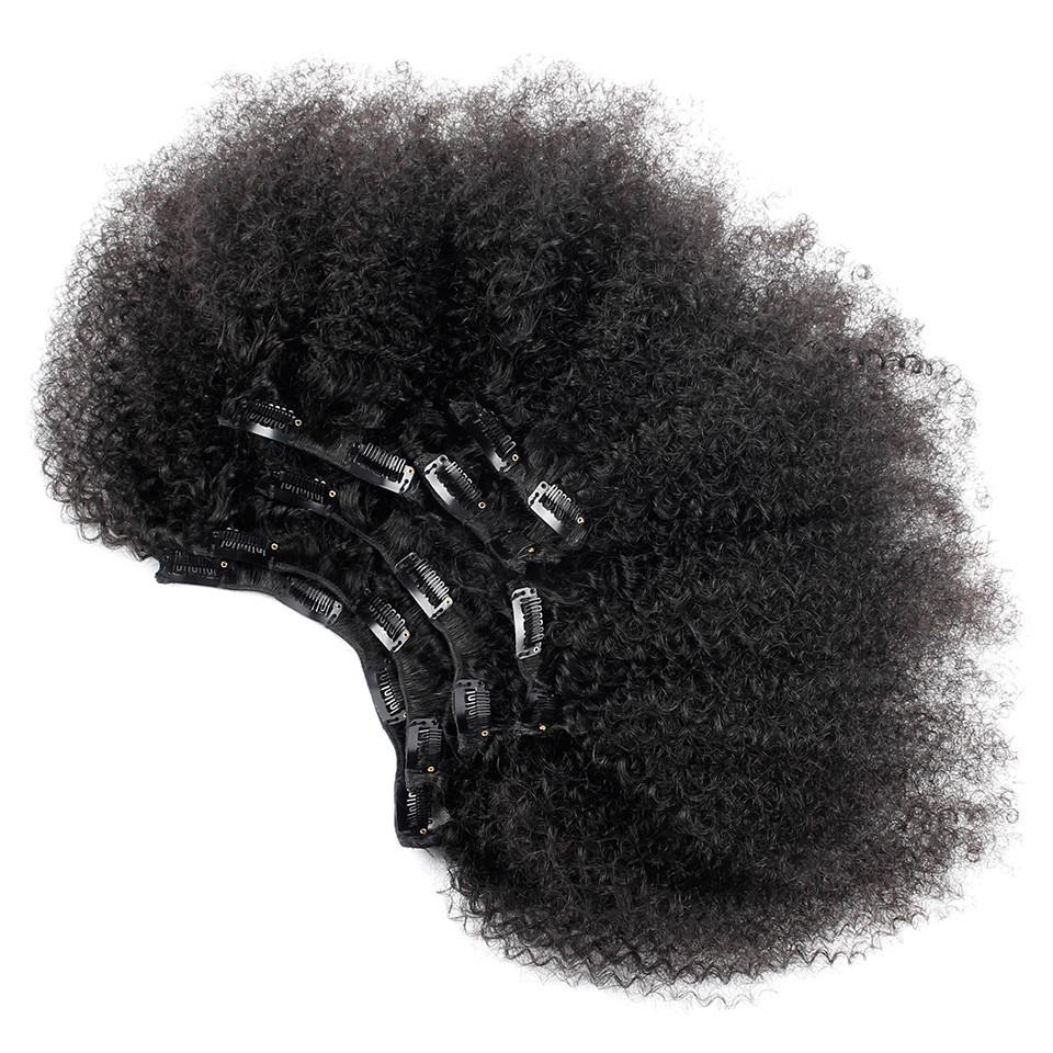CLIPS IN Brésiliennes Afro Kinky Curly Lot de 7 - Maggy Kloset