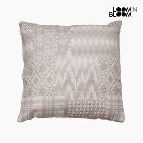 Carla patchwork pude beige by Loom In Bloom