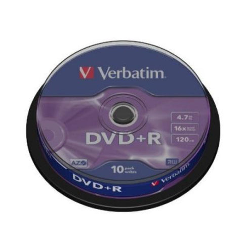 DVD + R Verbatim 43498 4.7 GB 16x 10 pcs