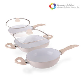 Ceramic Chef Pan Elegance Edition Stegepander (5 dele)