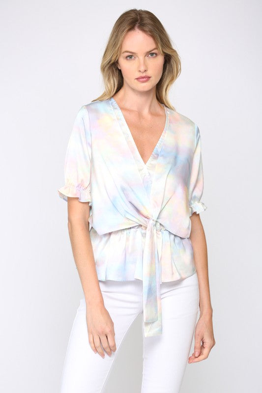 The 'Satin Wrap' Blouse