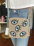 MOYNA 'Evil Eye Square Crossbody' Bag
