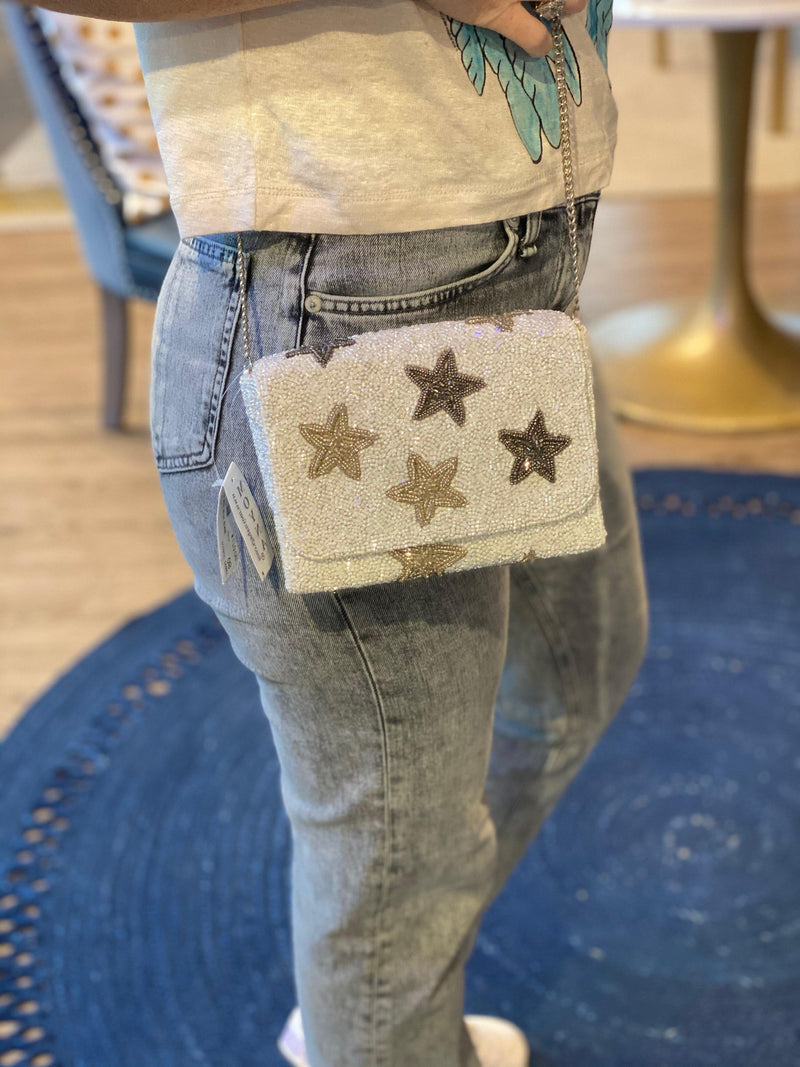 MOYNA 'Neutral Star Box Bag' Crossbody