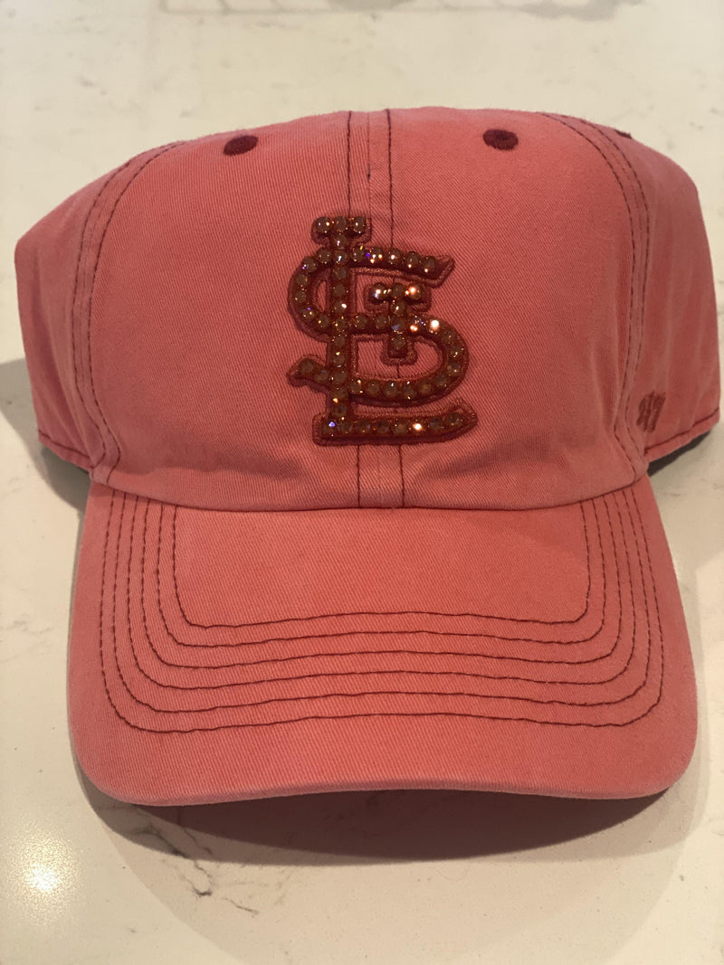 The 47' STL Bling' Hat- Bright Coral