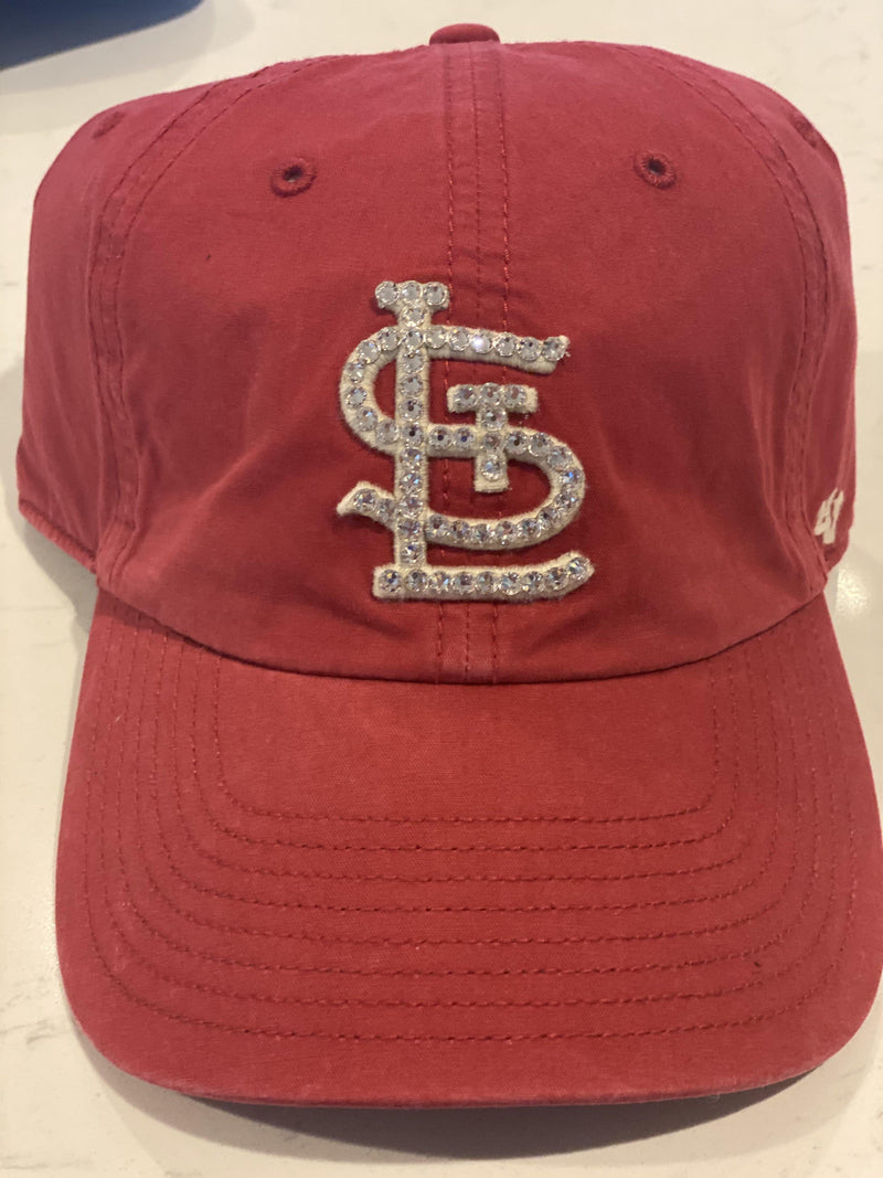 The 'Washed Red STL Bling Hat'