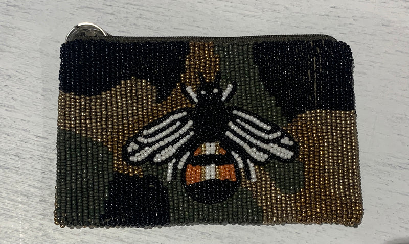 Moyna 'Camo Bee Coin' Purse