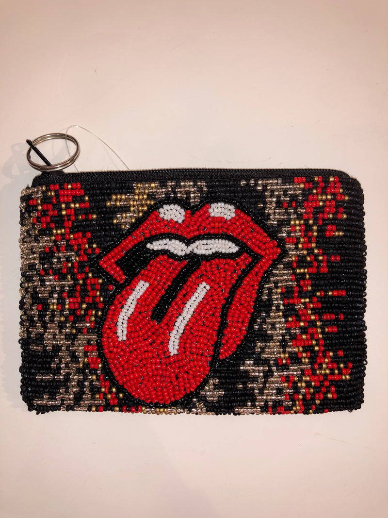 Moyna 'Rolling Stones Tongue Coin' Purse