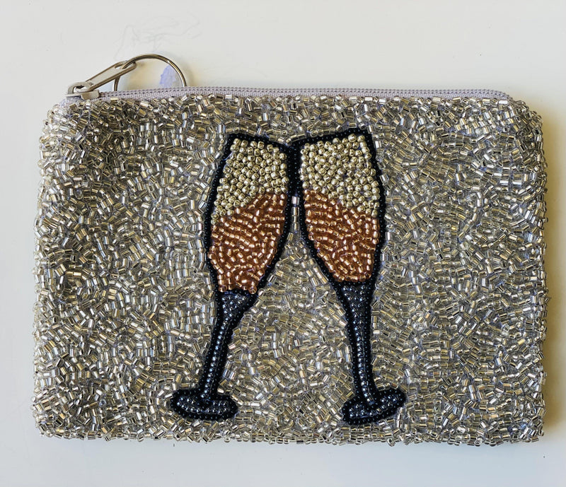 Moyna 'Champagne Glasses Coin 'Purse