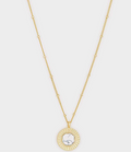 Power Gemstone Coin Necklace for Calming