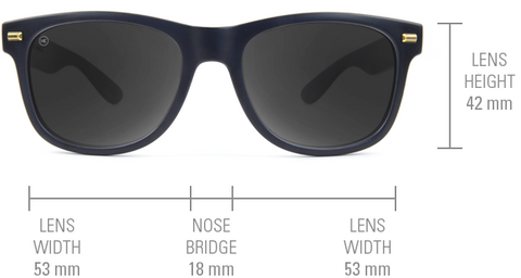 Knockaround sunglasses Fort Knocks model size guide