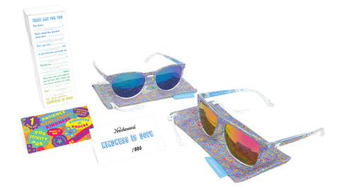 Knockaround Kindness is Dope Limited Edition affordable sunglasses as a pair