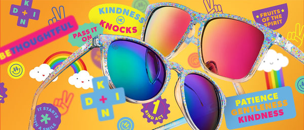 Knockaround Sunglasses Kindness is Dope artwork collage