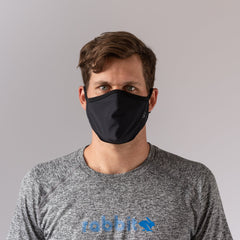 How rabbit brand face mask fits on a man