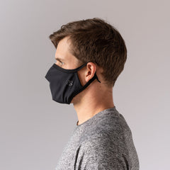 How rabbit brand face mask fits on a man from the side