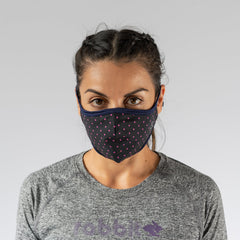 How rabbit brand face mask fits on a woman