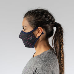 How rabbit brand face mask fits on a woman from the side