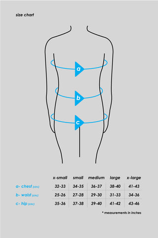 Size guide for Ciele's women's WNBShirts