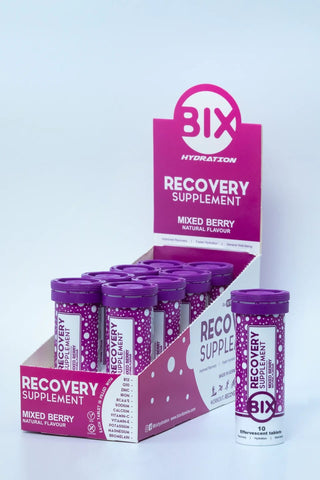 BIX Recovery Supplement (Mixed Berry Flavour) - Box of 8 Tubes