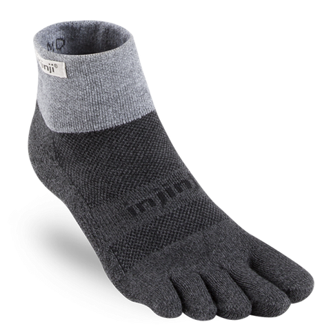 Injinji Trail Mini Crew Toe Socks - Granite