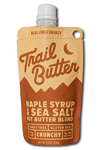 Trail Butter Maple Syrup & Sea Salt Nut Butter Blend Pouch Pack (128g)