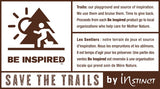 Instinct BE INSPIRED Trucker - SAVE THE TRAILS!