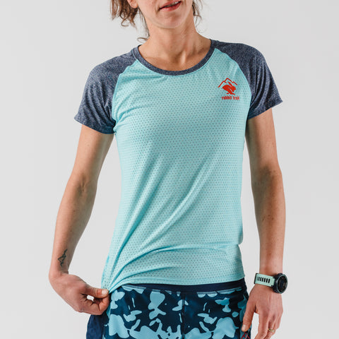 rabbit EZ Tee Perf SS - Bluefish/Dress Blues - Women's