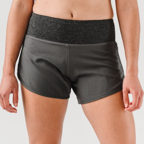 "rabbit Pocket Shorts 4"" - Charcoal - Women's"