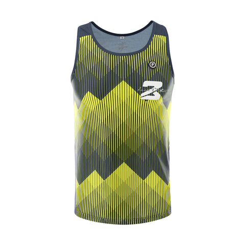PURPOSE Performance Wear - Zach Bitter Signature ELITE Racing Running Singlet - Mountain/Black