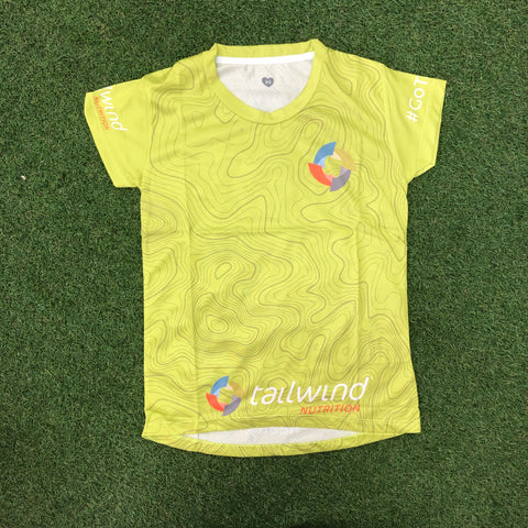 Tailwind Tech Tee - Green Contour - Women (TROPIC)