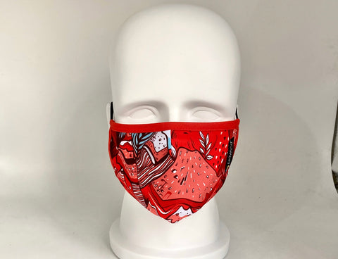 Tailwind Face Mask (Adult) by BOCO Gear - RED