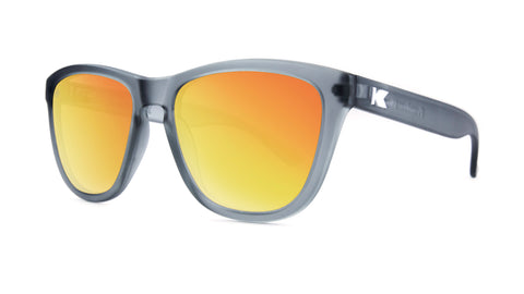 Knockaround Premiums - Frosted Grey / Red Sunset (Polarised)