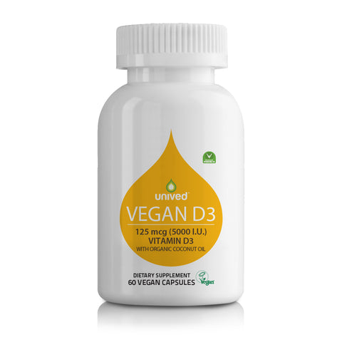 Unived Vegan D3 - 60 Capsules