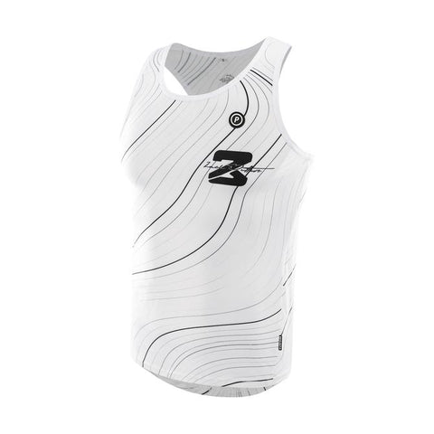 PURPOSE Performance Wear - Zach Bitter Signature ELITE Racing Running Singlet - Trail White