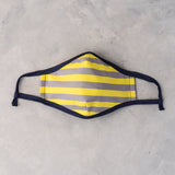 rabbit Mask - Grey/Yellow (Adult)