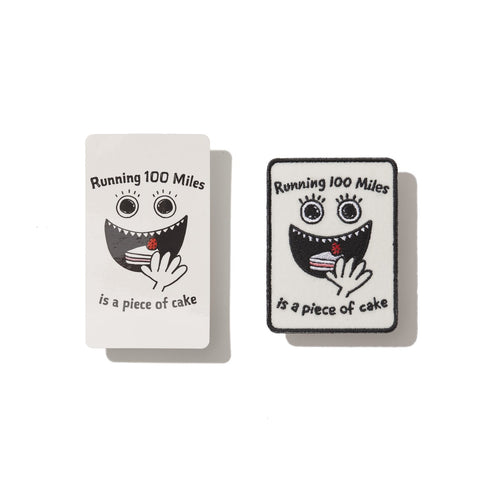 Tomo's Pit - Running 100 Miles is a Piece of Cake - Sticker/Cloth Patch Set