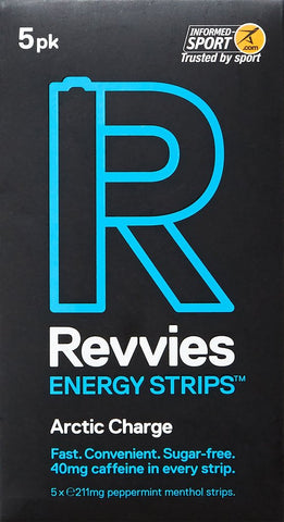 Revvies Energy Strips Arctic Charge 40mg Caffeine - Pack of 5
