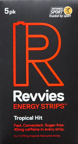 Revvies Energy Strips Tropical Hit 40mg Caffeine - Pack of 5