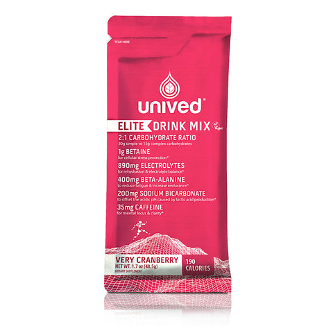 Unived Elite Drink Mix - Very Cranberry