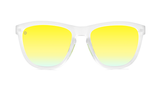 Knockaround Sport Premiums - Rubberized Clear / Yellow Green (Polarised)