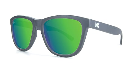 Knockaround Premiums - Solid Matte Graphite / Green Moonshine (Polarised)