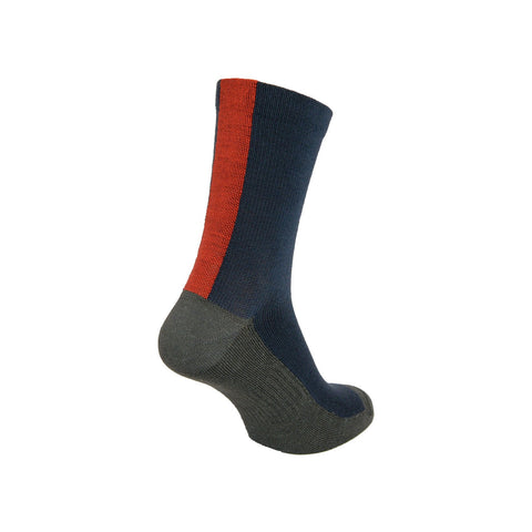 Ashmei Classic Navy/Red Merino Socks