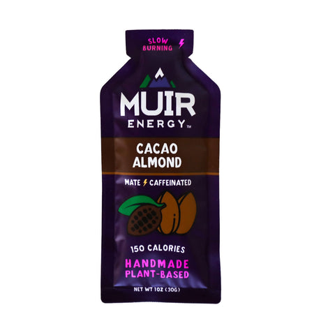 Muir Energy - Cacao Almond Mate (Caffeinated) Energy Gel (Slow Burning)