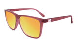 Knockaround Fast Lanes - Frosted Rubber Maroon / Sunset (Polarised)
